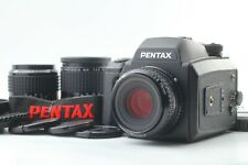 [Mint] Pentax 645 NII N II w/ SMC A 75 55 150 3Lens 120 film back From JAPAN 229