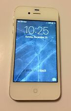 Apple iPhone 4S 16GB White AT&T Smartphone Work PERFECT ALWAYS in Otterbox  NICE