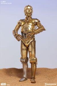 "Star Wars C-3PO Sideshow Exclusive 1/6 12"" Figure MIB Brown Shipper"