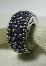 New Authentic Pandora Spacer Charm Inspiration Within Fancy Purple CZ 791359CFP