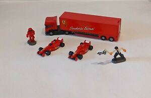 Hot Wheels Planet Micro Machines Bundle Lot Scuderia Ferrari F1 Red Racing HTF