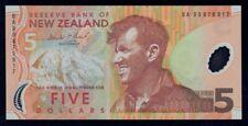 "New Zealand: 1999 1st Polymer $5 Brash ""SIR EDMUND HILLARY"". P185a UNC Cat $18+"
