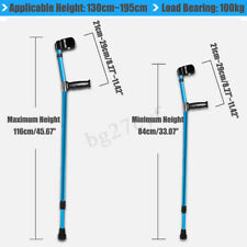 Pro Adults Foldable Walking Forearm Crutches Stick with Arm Cuff Elbow Pedal