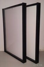 Lot of 2 White Backing Jersey Display Case Frame By GameDay Display Made in USA