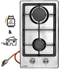 Phoenix DOMINO-S Gas Hob Inox Gas Cooker 2 Lamps Incl. Gasschlauch-Regler
