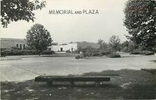 Lincoln City Indiana~Bench on Grounds of Hanks State Memorial & Plaza RPPC 1940s