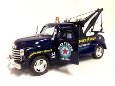 New Kinsmart 1953 Chevrolet 3100 Wrecker 1:38 diecast model toy tow chevy BLUE