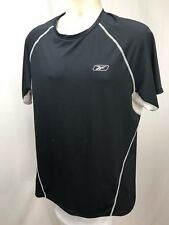 Reebok Men's Athletic Apparel Vented Armpits Black Short Sleeve T-Shirt XL 20-10