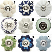 4X Ceramic Door Knobs Furniture Drawer Bedside Cabinet Kitchen Handles