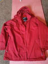 Tresspass ladies red jacket size L 16 waterproof windproof