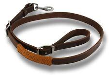 D.A. Brand Latigo Leather Tie Down Strap w/ Braided Leather Trim Horse Tack