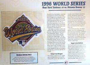 1996 WORLD SERIES ~ NEW YORK YANKEES / ATLANTA BRAVES Willabee & Ward PATCH CARD