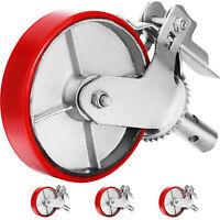 "Scaffolding Casters 8"" x 2"" 4pcs Locking Polyurethane Wheel 1-3/8"" Stem 4400lbs"