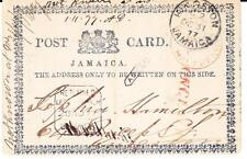 Jamaica FORMULAR POSTAL CARD-HG:4a(L.R.Fleuer-de-Lie Missing)KINGSTON
