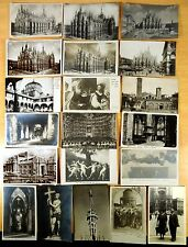 20 Photo Postcards Milano Milan Italy Trams Stazione Centrale Teatro 1905-1939