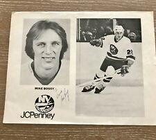 New York Islanders NHL Mike Bossy Autographed Picture 1984