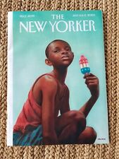 """THE NEW YORKER MAGAZINE-JULY 6-13, 2020-KADIR NELSON'S-""""DISTANT SUMMER""""-Popsicle"""