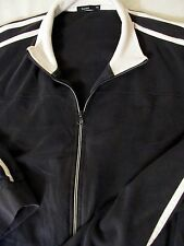Bossini Blue 100% Cotton Full Zip Sweater XL Stretchy