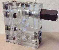 Lucite Industrial Paperweight rare part piece socket steampunk desk top unusual