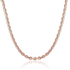 Authentic 18K Rose Gold Necklace 0.7mm O Link Chain Necklace 40cm L