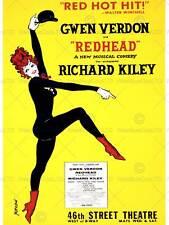 Anuncio Teatro etapa musical pelirroja Verdon Kiley Fine Art Print cartel ABB6284B