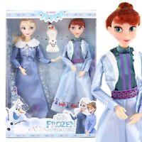 Disney Anime Frozen 2 Elsa Anna 30cm Dolls set/Lot Toys Birthday Gift
