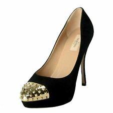 Valentino Garavani Women's Rockstud Suede High Heel Platform Shoes US 10 IT 41