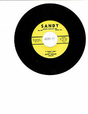 Buddy Walker ROCK-A-BILLY 45 (SANDY 1036) I Want You/It's You NM