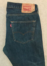 LEVIS 501 DENIM JEANS! MENS W36/L32 DARK BLUE! STRAIGHT LEG! RED TAB!
