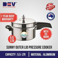 5.5 Ltrs Sunny Outer Lid 5.5 Liters Aluminium Pressure Cooker $49.99 5.5 L