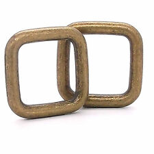 "Square Ring Antique Brass 1"" 2 Pack 1577-09"