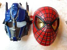 Lot 2 Mask. Spiderman Talking mask w/light eyes & Transformers Optimus Prime