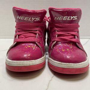Heelys Split Skate Shoes 770814 Size Youth 7 Womens 8 Pink Disco Glitter
