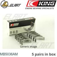 King Main Shell Bearings MB5036AM STD For FIAT 1.4-1.8 16V,1.9 DIESEL 2000->