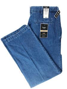 NEW HAGGAR W2W Denim Pants Blue Comfort PleatedFront Pockets Sz 34x32 NWT $60