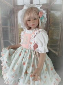 """Bunny Hill Easter"" Classic Vintage Dress Set For Your Special Himstedt Doll,"