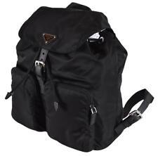 90a6a7539a603e NEW Prada Zainetto Black Tessuto Nylon Saffiano Backpack Rucksack Purse  1BZ005