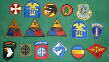 WW2 / Post War Uniform Patch Collection of 16 includes Airborne - No Reserve
