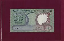 Congo Democratic Republic 20 Francs 1962 P-4 UNC
