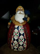 "Jim Shore Heartwood Creek Christmas Figurine Short Santa Bag 8 1/2"" x 5"""