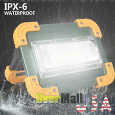 100000lm Rechargeable COB LED Work Light Inspection Flashlight Flood Lamp Stand