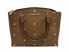 Michael Kors ELLIS Stud Small Convertible Crossbody Leather Bag Handbag Luggage