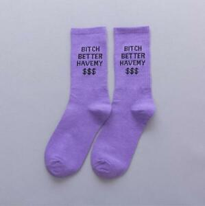 Sports leisure Cotton socks Letter printing Hip Hop Skateboard Socks Unisex