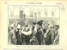 LEMBERG  Alexander Battenberg Alexandre Ier BULGARIA 1886 GRAVURE ANTIQUE PRINT