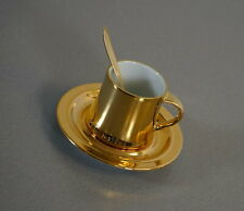 Amphora Porzellan Mokka Gedeck 3 teilig Suisse Langenthal Gold Edition für Cona