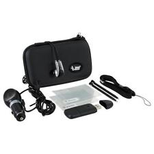 DSi 9-In-1 Gamer Pack - BLACK/PINK CASE, USB SD, CAR CHARGER, EARBUDS, 2 STYLUS