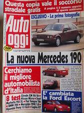 Auto OGGI n°189 1990 BMW 318i - Citroen XM V6 24 - Ford Escort  [Q201]