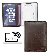 Prime Hide Washington RFID Bloqueo De Cuero Marrón soporte tarjeta de crédito RFID seguro