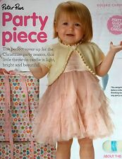 KNITTING PATTERN Baby Girls Bolero Cardigan Frill Trim Childrens Peter Pan MAKE