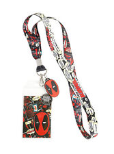 Marvel Comics Deadpool Comic Talk Bubble Lanyard With Charm ID Pass Event Holder